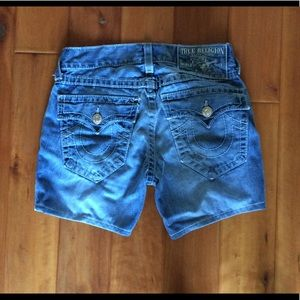 True Religion Billy Big T jean shorts size 31